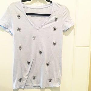 A New Day | V-Neck Embellished T-Shirt